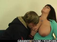 massive titted fattie jumps on hard cock