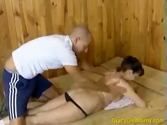 crazy old mamma acquires hard fucked