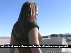 breasty redhead whore walking down the street