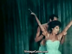 bare ballerina dancing with her partner