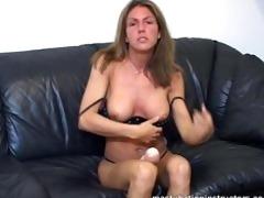 jerky teacher got sex tool betwixt her boobs