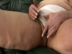 granny panty stuffing and fake penis play