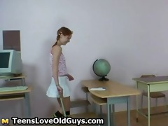 cute redhead legal age teenager showing part1