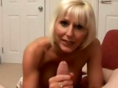 aged golden-haired bosslady receives harsh
