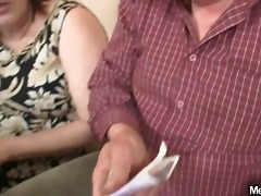 virginal gal is enticed by granny and fucked by
