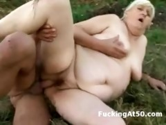 plumper granny fucked by a concupiscent masked