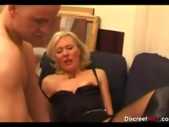 casting french golden-haired aged housewife