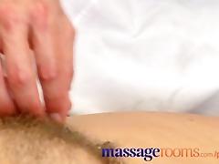 massage rooms mature woman with bushy muff given