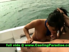 priya rai breasty dark brown fucking on a boat