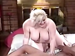 chubby mother i golden-haired blowing large dark