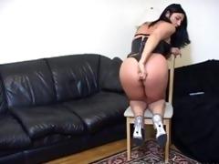 jerk off teacher demos masturbation on her anal