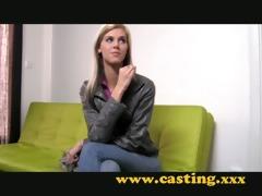 casting - super slim babe gets drilled hard