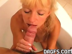 thin and blond mommy t live without to engulf