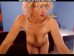 breasty golden-haired older anal vibrator