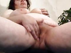 chubby mama didles with her chucky cum-hole