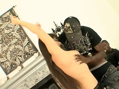 lustful white cougar receives fucked by dark guys