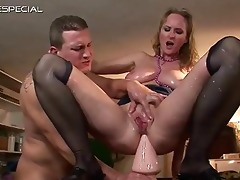 aged milf receives all her holes filled part1