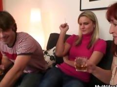 wife watching him fucking her mamma