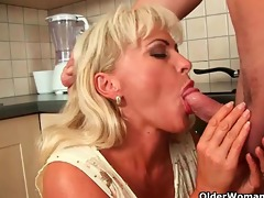 older mama knows how to unload a cock