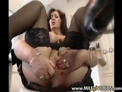 breasty d like to fuck in dark nylons toying with