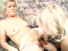 lustful grandmas are playing with large sex toy