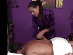 hawt masseuse is sexually excited for her client