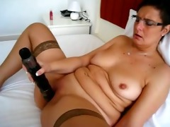 older playgirl masturbating with toys