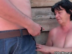 unsightly grandma with 11 inch nipps acquires