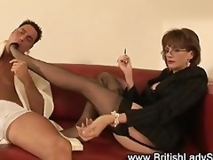 femdom fetish aged stockinged chick