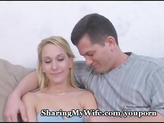 sexy wifey takes ball cream shower