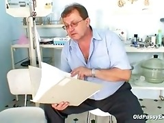 aged obese radka gyno bawdy cleft speculum exam