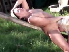 big beautiful woman older garden lesbo party