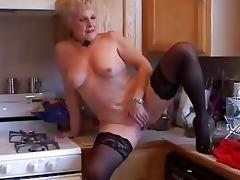 very hot grandma has a soaking moist twat