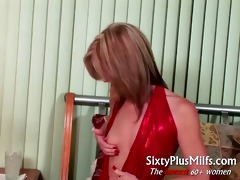 sexy hot golden-haired grandma