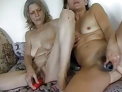hawt granny masturbating with sex toy