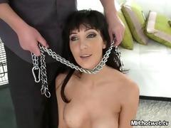 diana prince handcuffed like a puppy naked