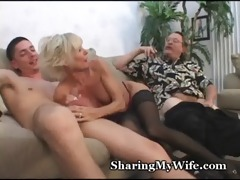 aged pair in 5some sex game
