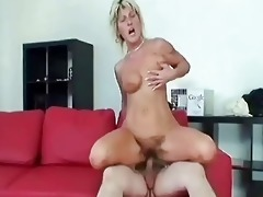 granny swallows a large jock and bonks it is hard