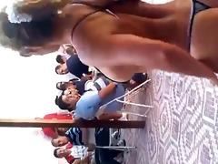 mad milf dancing with small bikini
