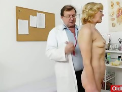 blond-haired gramma fuck hole exam