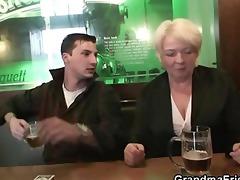 buddies pick up drunk granny