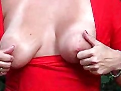 aged wife public good love melons