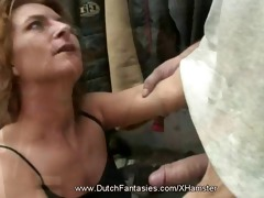 slutty dutch amateur in dressing room