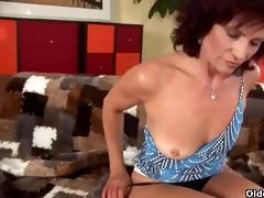 sexy grandma finger fucks her hirsute twat