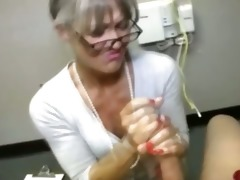 granny receives spunk fountain from favourable
