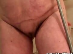 horny guy strips off aged ladys raiment