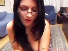 wife looks nice sucking jock with eyeglasses
