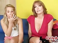 kimberly and her mommy fuck a biggest chubby cock