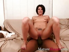 horny housewife with large darksome ramrod