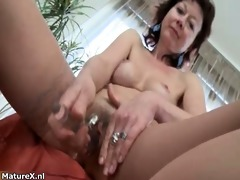 hot aged bitch receives horny rubbing